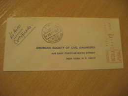 ANTOFAGASTA 1970 To New York USA Registered Cancel Meter Air Mail Cover CHILE - Chili