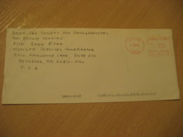 CHILLAN 1993 To Bethesda USA Cancel Meter Air Mail Cover CHILE - Chili