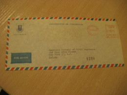 Universidad De CONCEPCION Rectoria 1965 To New York USA Cancel Meter Air Mail Cover CHILE - Chili