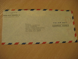 COYA - RANCAGUA Santiago 1969 To New York USA Cancel Meter Air Mail Cover CHILE - Chili