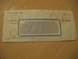 Banco Español - Chile SANTIAGO Cancel Meter Air Mail Cover CHILE - Chili