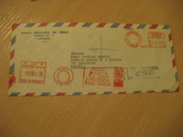 Banco Israelita De Chile SANTIAGO To Barcelona Spain Sobre Tasa Registered Cancel Meter Air Mail Cover CHILE Israel - Chile
