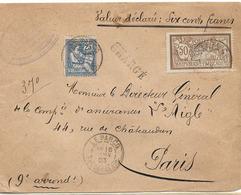 LETTRE CHARGE LE PARCQ PAS DE CALAIS 1903 DESCRIPTIF 7021 NUMERO BLANC - 1877-1920: Periodo Semi Moderno