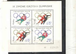 Polonia PO 1964 9 Olimpics Winter Innsbruck S/s Scott.+See Scan On Schaubek Page; - 1944-.... Repubblica