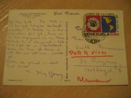 CARACAS 1973 Stadium Ciudad Universitaria University Air Mail Cancel Post Card VENEZUELA - Venezuela
