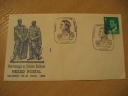 MADRID 1983 Simon Bolivar Museo Postal Spain Cancel Cover VENEZUELA - Venezuela