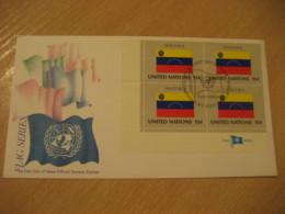 NEW YORK 1980 Flag Bandera UN United Nations USA Cancel Cover VENEZUELA - Venezuela