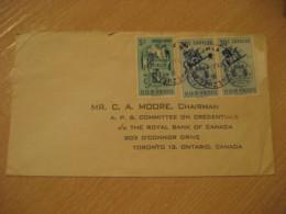 San Tome Barcelona 1961 ? To Toronto Canada Air Mail Cancel Cover VENEZUELA - Venezuela