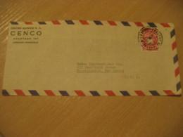 CARACAS 1957 To Mountainside USA Air Mail Cancel Cover VENEZUELA - Venezuela