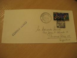CHACAO Edo. Miranda 1972 To Buenos Aires Argentina Air Mail Cancel Cover VENEZUELA - Venezuela