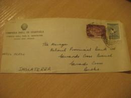 CAGUA Edo. Aragua 1958 To Bucks England Compañia SHELL Air Mail Cancel Cover VENEZUELA - Venezuela