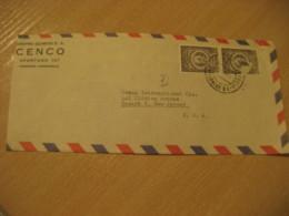 CARACAS 195? To Newark USA Chemical CENCO Center Air Mail Cancel Cover VENEZUELA - Venezuela
