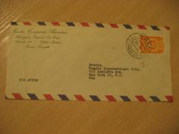 CARACAS 195? To New York USA Air Mail Cancel Cover VENEZUELA - Venezuela