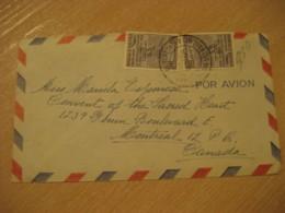 CARACAS 1954 To Montreal Canada Air Mail Cancel Cover VENEZUELA - Venezuela