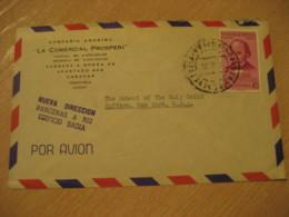 CARACAS 195? To Suffern New York USA Air Mail Cancel Cover VENEZUELA - Venezuela
