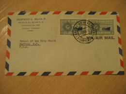 CARACAS 1953 To Suffern New York USA Air Mail Cancel Cover VENEZUELA - Venezuela