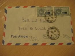 CARACAS 1952 To Chicago USA Air Mail Cancel Cover VENEZUELA - Venezuela
