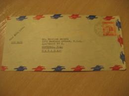 EL CONDE D.F. 1956 To Montreal Canada Air Mail Cancel Cover VENEZUELA - Venezuela