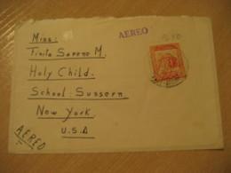 CHACAO Edo Miranda 1954 To New York USA Air Mail Cancel Cover VENEZUELA - Venezuela