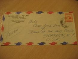CARACAS Cerveceria Polar 195? To Suffern NY USA Beer Air Mail Cancel Cover VENEZUELA - Venezuela