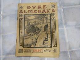 Gvre Almanaka 1937 Almanach Basque - Livres, BD, Revues