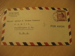 CARACAS 1956 To Philadelphia USA Air Mail Cancel Cover VENEZUELA - Venezuela