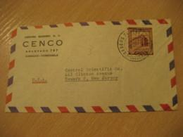 CARACAS 1953 To Newark USA Air Mail Cancel Cover VENEZUELA - Venezuela