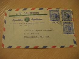 CARACAS 195? To Philadelphia USA Air Mail Cancel Cover VENEZUELA - Venezuela