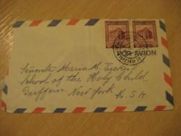 CHACAO Edo Miranda 1956 To Suffern New York USA Air Mail Cancel Cover VENEZUELA - Venezuela