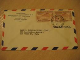 MARACAIBO ZUL. 1952 To New York USA Velodromo Nacional Stadium Cancel Air Mail Cover VENEZUELA - Venezuela