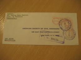 VALENCIA Carabobo 1963 To New York USA Registered Meter Air Mail Cancel Cover VENEZUELA - Venezuela