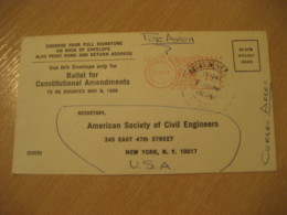 LA SABANITA Bolivar 1964 To New York USA Meter Air Mail Cancel Cover VENEZUELA - Venezuela
