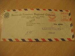 CIUDAD BOLIVAR 1957 To Amsterdam Netherlands Banco De Fomento Regional GUAYANA Meter Air Mail Cancel Cover VENEZUELA - Venezuela
