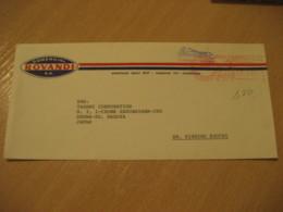 CARACAS 1977 To Showa-Ku Nagoya Japan Meter Air Mail Cancel Cover VENEZUELA - Venezuela