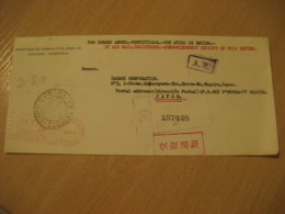 CARACAS 1976 To Showa-Ku Nagoya Japan Registered Meter Air Mail Cancel Cover VENEZUELA - Venezuela