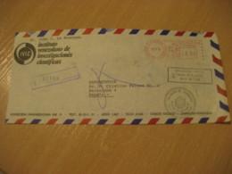 CARACAS 1978 To Barcelona Spain Science Corner Registered Meter Air Mail Cancel Cover VENEZUELA - Venezuela