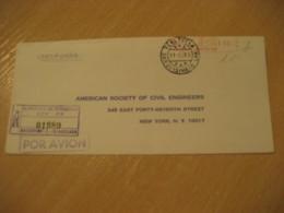 BARQUISIMETO Estado Lara 1969 To New York USA Registered Meter Air Mail Cancel Cover VENEZUELA - Venezuela