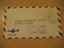 BARQUISIMETO Estado Lara 1967 To New York USA Registered Meter Air Mail Cancel Cover VENEZUELA - Venezuela