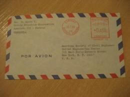 CARACAS 1969 To New York USA Petroleum Petrol Oil Meter Air Mail Cancel Cover VENEZUELA - Venezuela