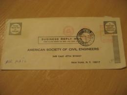 CARACAS 1968 To New York USA Cemento Ciment Meter Air Mail Cancel Cover VENEZUELA - Venezuela