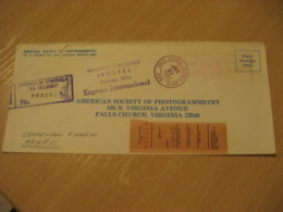 CARACAS 1982 To Falls Church USA Photogrammetry Photo Registered Meter Air Mail Cancel Cover VENEZUELA - Venezuela