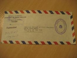 Ministerio De Obras Publicas Vialidad 1965 To New York USA Registered Meter Air Mail Cancel Cover VENEZUELA - Venezuela