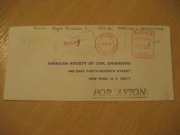 MERIDA 1970 To New York USA Registered Meter Air Mail Cancel Cover VENEZUELA - Venezuela