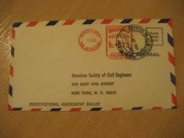 PUERTO LA CRUZ Anzoategui 1969 To New York USA Ballot Meter Air Mail Cancel Cover VENEZUELA - Venezuela