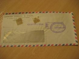 CARACAS Corporacion Venezolana De GUAYANA Registered Meter Air Mail Cancel Cover VENEZUELA - Venezuela