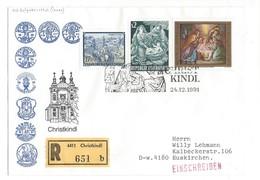 21028 - Christkindl 1991 Lettre Recommandée Pour Euskirchen 24.12.1991 - Noël