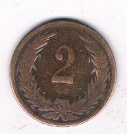 2 FILLER 1901  HONGARIJE /8388/ - Hungary