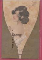 ILLUSTRATEUR----Raphael KIRCHNER--Femme A La Bague Dans Flute De Champagne--Fleurs Géometriques--Gauffree - Kirchner, Raphael