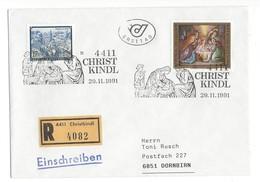 21029 - Christkindl 1991 Lettre Recommandée Pour Dornbirn 29.11.1991 - Noël