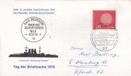 German Navy: 75 Jahren Einführung Deutschen Marine-Schiffpost - Tag Der Briefmarke 1970 P/m Kiel 1970  (DD24-39) - Militaria